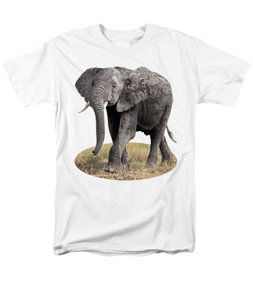 African Elephant Happy And Free Men's T-Shirt  (Regular Fit) by Gill Billington