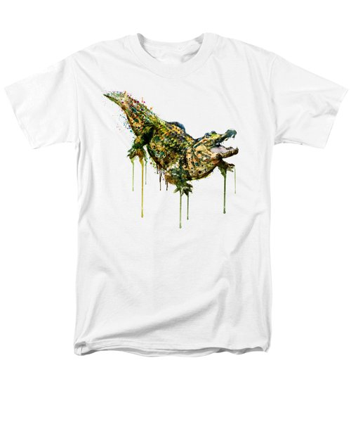 Alligator Watercolor Painting Men's T-Shirt  (Regular Fit) by Marian Voicu