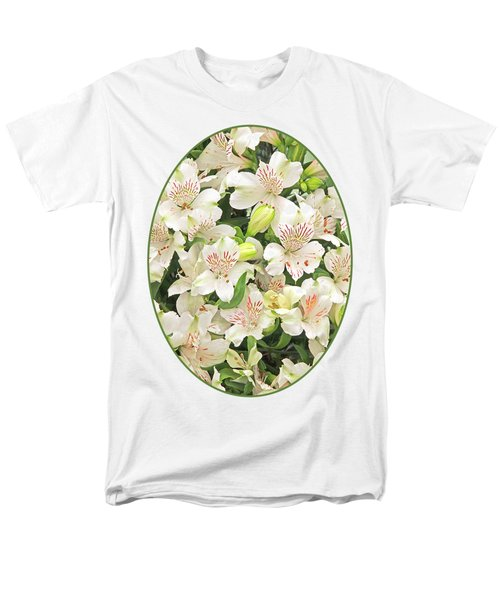 Alluring Alstroemeria - Peruvian Lilies Men's T-Shirt  (Regular Fit) by Gill Billington