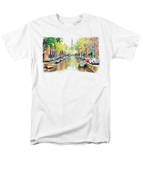 Amsterdam Canal 2 Men's T-Shirt  (Regular Fit) by Marian Voicu