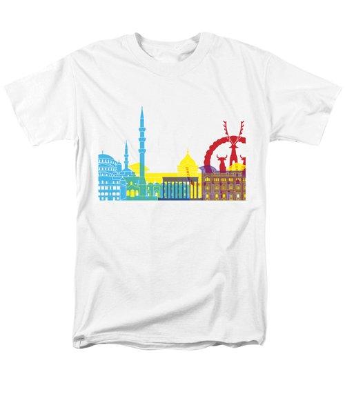 Ankara Skyline Pop Men's T-Shirt  (Regular Fit) by Pablo Romero