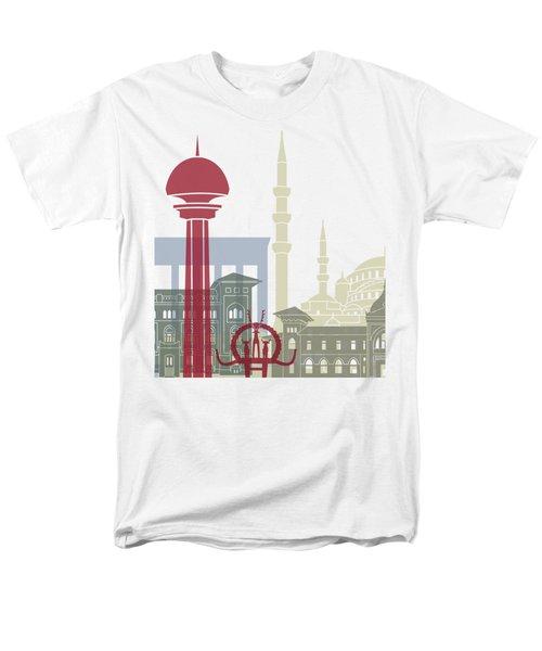 Ankara Skyline Poster Men's T-Shirt  (Regular Fit) by Pablo Romero