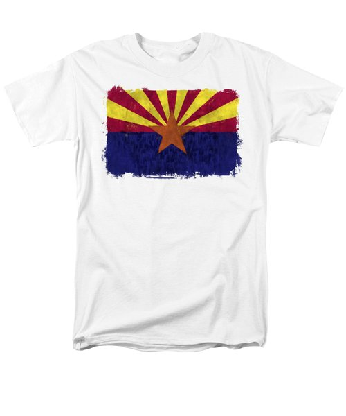 Arizona Flag Men's T-Shirt  (Regular Fit) by World Art Prints And Designs