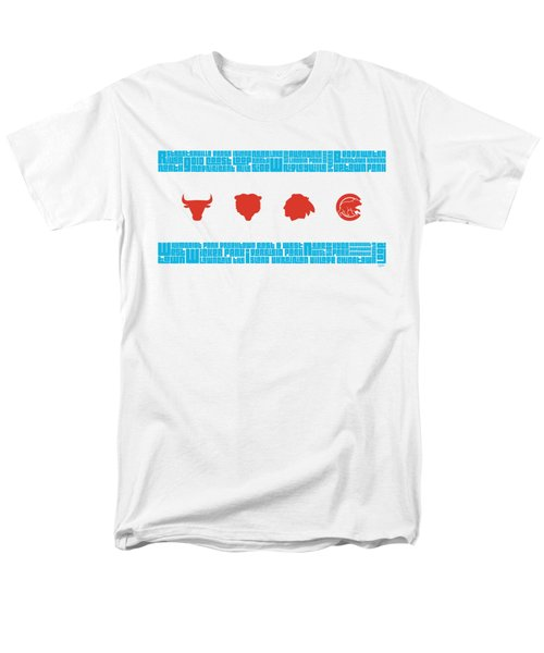 Chicago Flag Sports Teams T-Shirt by Mike Maher