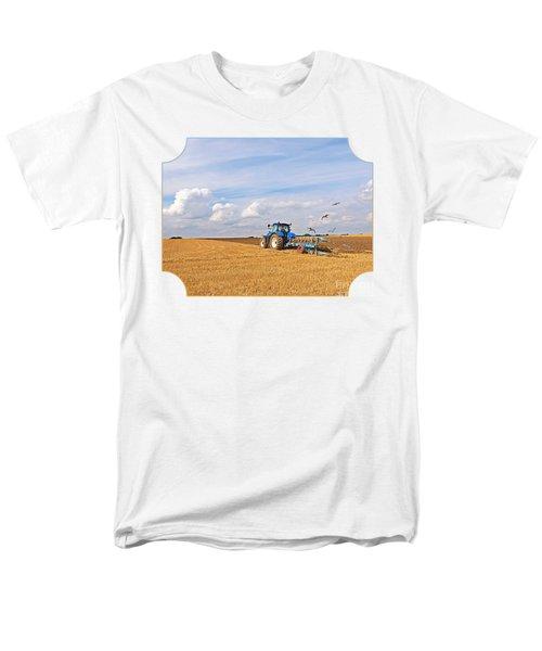 Ploughing After The Harvest Men's T-Shirt  (Regular Fit) by Gill Billington