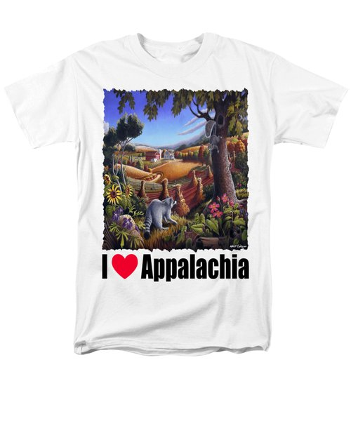 I Love Appalachia - Coon Gap Holler Country Farm Landscape 1 Men's T-Shirt  (Regular Fit) by Walt Curlee