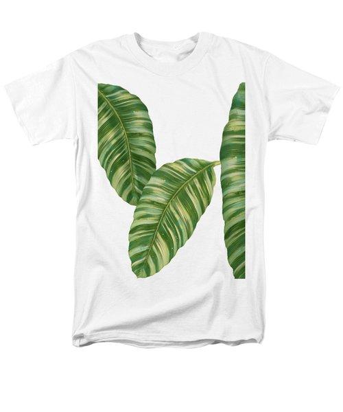 Rainforest Resort - Tropical Banana Leaf  Men's T-Shirt  (Regular Fit) by Audrey Jeanne Roberts
