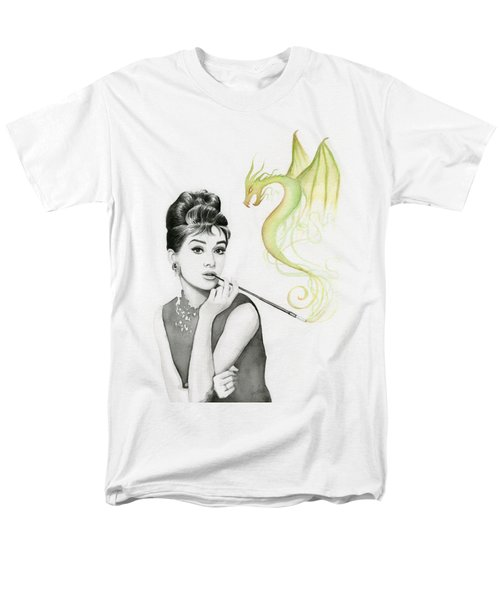 Audrey And Her Magic Dragon Men's T-Shirt  (Regular Fit) by Olga Shvartsur