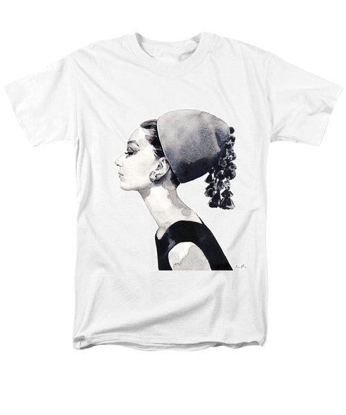 Audrey Hepburn For Vogue 1964 Couture Men's T-Shirt  (Regular Fit) by Laura Row