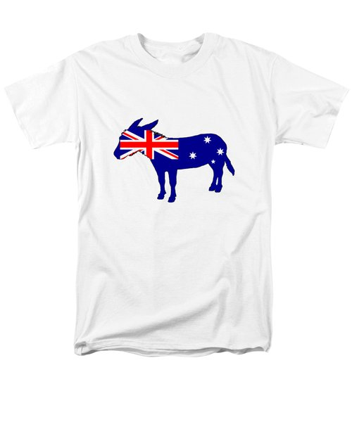 Australian Flag - Donkey Men's T-Shirt  (Regular Fit) by Mordax Furittus