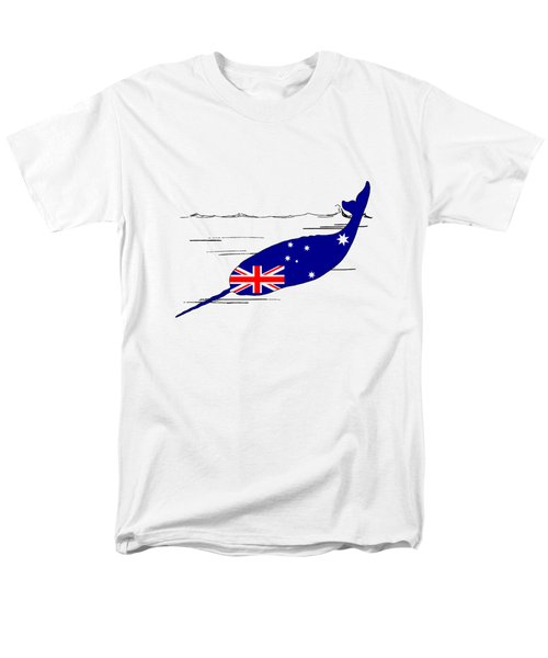 Australian Flag - Narwhal Men's T-Shirt  (Regular Fit) by Mordax Furittus
