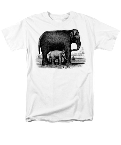 Baby Elephant T-shirt Men's T-Shirt  (Regular Fit) by Edward Fielding