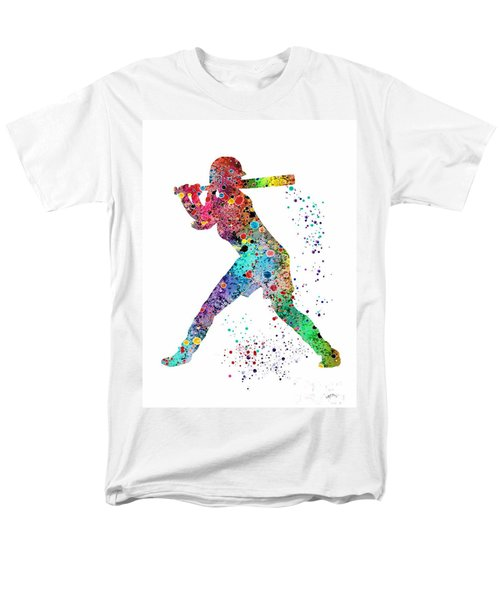 Baseball Softball Player Men's T-Shirt  (Regular Fit) by Svetla Tancheva
