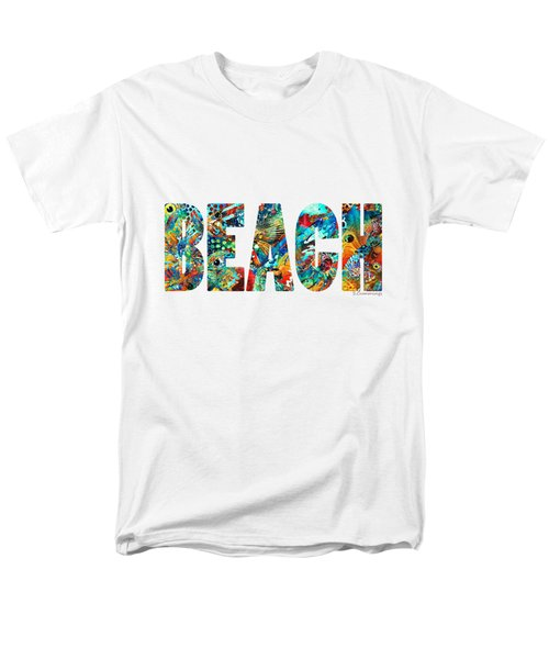 Beach Art - Beachy Keen - By Sharon Cummings Men's T-Shirt  (Regular Fit) by Sharon Cummings