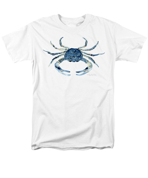 Beach House Sea Life Blue Crab Men's T-Shirt  (Regular Fit) by Audrey Jeanne Roberts