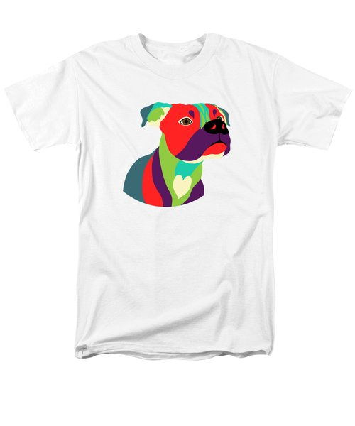 Bennie The Boxer Dog - Wpap Men's T-Shirt  (Regular Fit) by Shara Lee