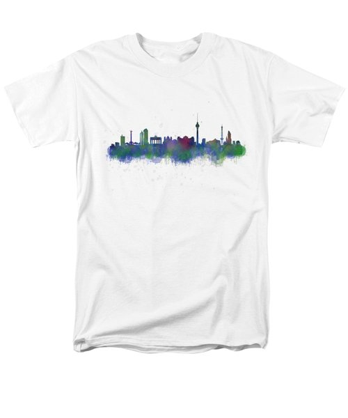 Berlin City Skyline Hq 2 Men's T-Shirt  (Regular Fit) by HQ Photo