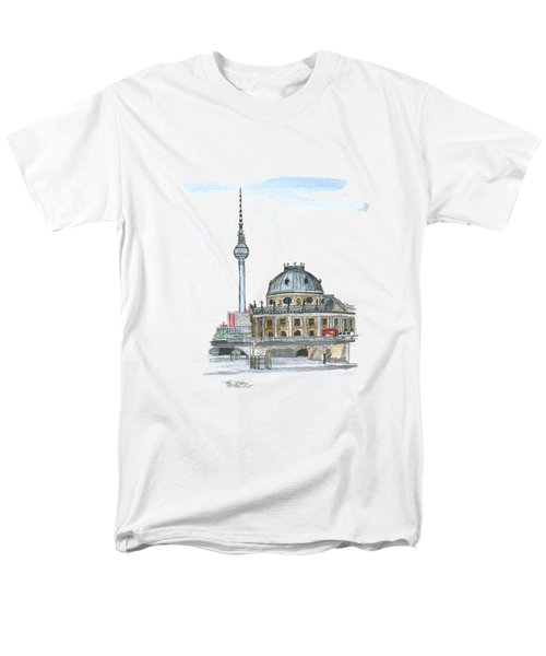 Berlin Fernsehturm Men's T-Shirt  (Regular Fit) by Petra Stephens