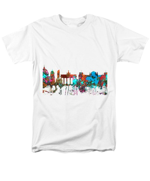 Berlin Germany Skyline  Men's T-Shirt  (Regular Fit) by Marlene Watson