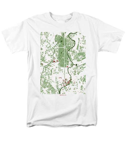 Berlin Minimal Map Men's T-Shirt  (Regular Fit) by Jasone Ayerbe- Javier R Recco