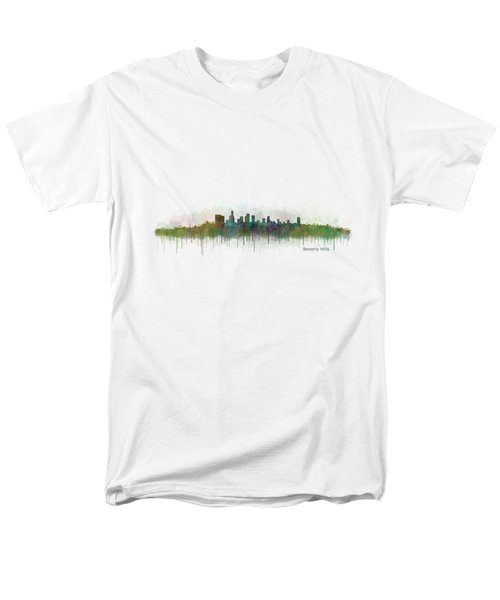 Beverly Hills City In La City Skyline Hq V3 Men's T-Shirt  (Regular Fit) by HQ Photo