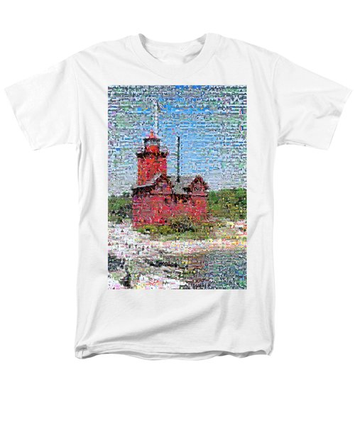 Big Red Photomosaic T-Shirt by Michelle Calkins