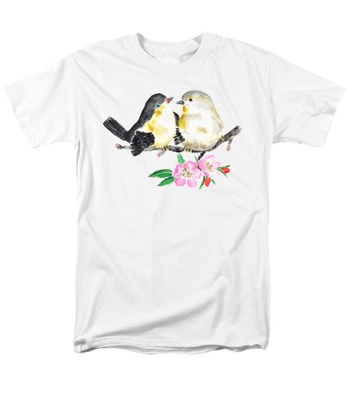Birds And Apple Blossom Men's T-Shirt  (Regular Fit) by Color Color