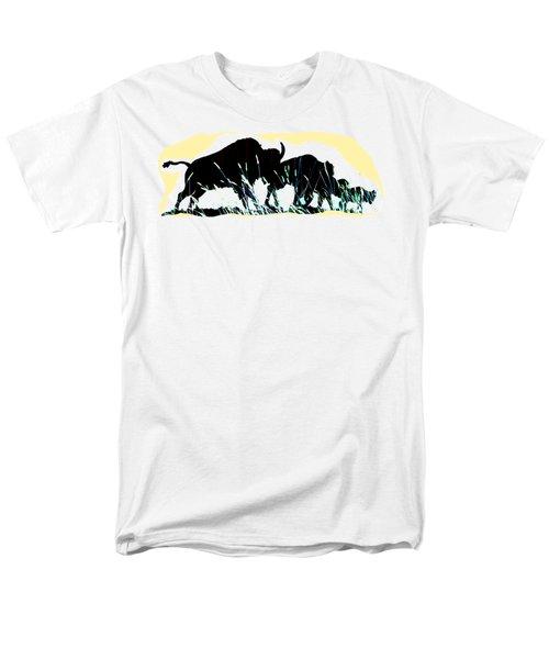 Bison Prairie Run Men's T-Shirt  (Regular Fit) by Aliceann Carlton