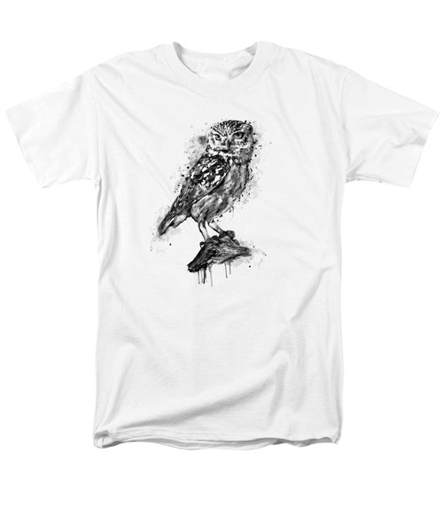 Black And White Owl Men's T-Shirt  (Regular Fit) by Marian Voicu