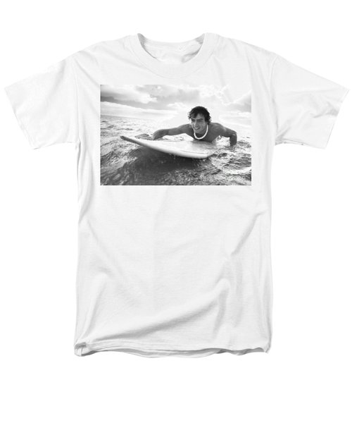 Black and White Sufer T-Shirt by Brandon Tabiolo - Printscapes