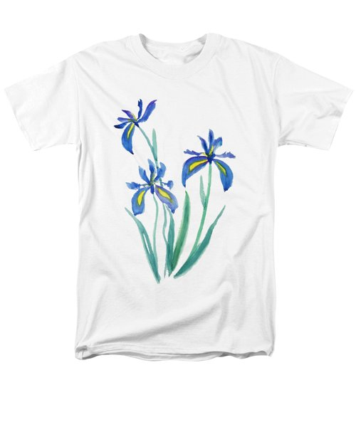 Blue Iris Men's T-Shirt  (Regular Fit) by Color Color
