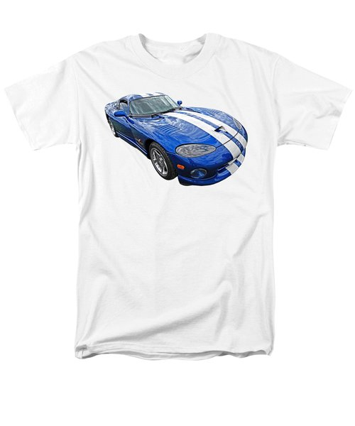 Blue Viper Men's T-Shirt  (Regular Fit) by Gill Billington