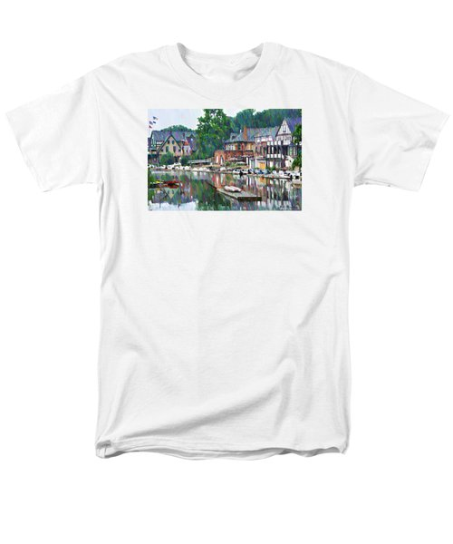 Boathouse Row in Philadelphia T-Shirt by Bill Cannon