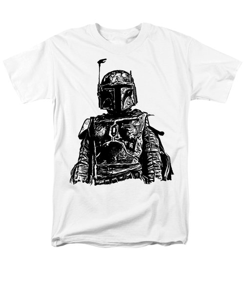 Boba Fett From The Star Wars Universe Men's T-Shirt  (Regular Fit) by Edward Fielding