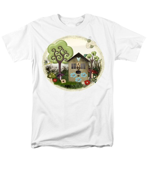 Bonnie Memories Whimsical Mixed Media Men's T-Shirt  (Regular Fit) by Sharon and Renee Lozen