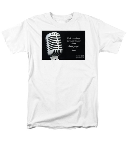Bono On Music Men's T-Shirt  (Regular Fit) by Paul Ward