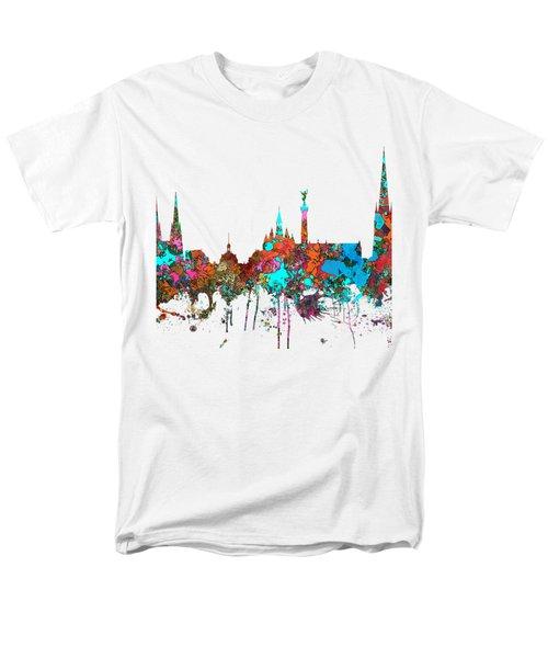 Bordeaux France  Skyline  Men's T-Shirt  (Regular Fit) by Marlene Watson