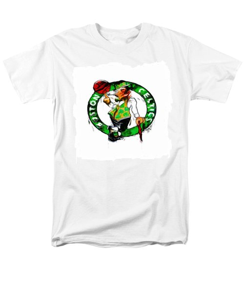 Boston Celtics 2b Men's T-Shirt  (Regular Fit) by Brian Reaves