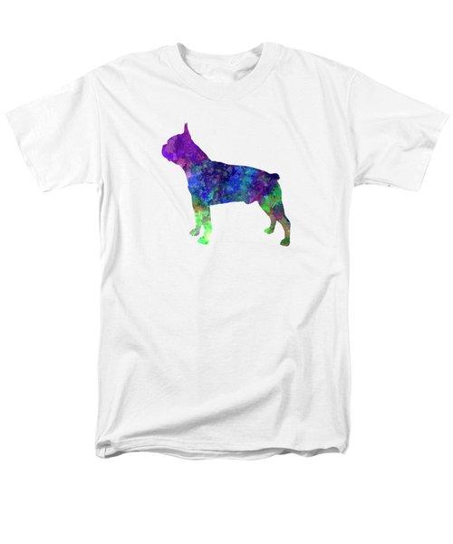 Boston Terrier 02 In Watercolor Men's T-Shirt  (Regular Fit) by Pablo Romero