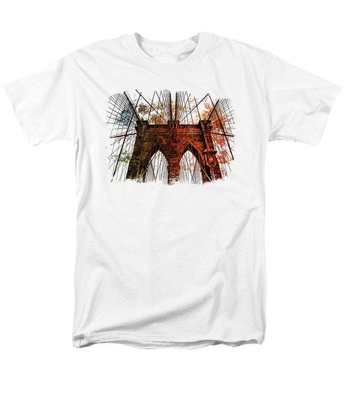 Brooklyn Bridge Art 1 Men's T-Shirt  (Regular Fit) by Di Designs