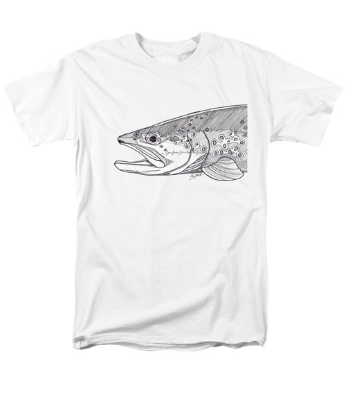 Brown Trout Men's T-Shirt  (Regular Fit) by Jay Talbot