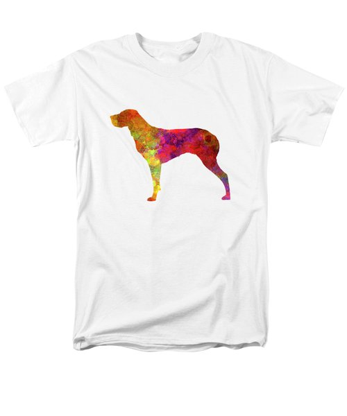 Burgos Pointer In Watercolor Men's T-Shirt  (Regular Fit) by Pablo Romero