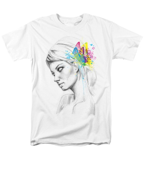 Butterfly Queen Men's T-Shirt  (Regular Fit) by Olga Shvartsur