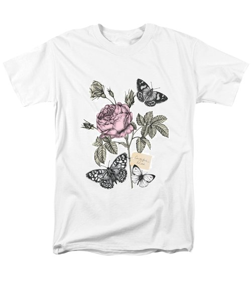 Cabbage Rose Men's T-Shirt  (Regular Fit) by Stephanie Davies