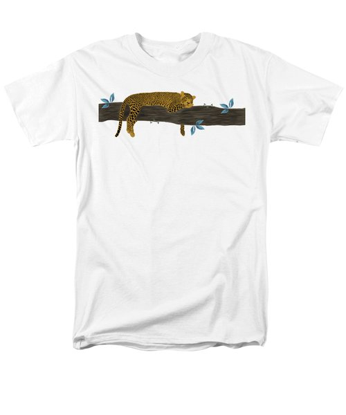Cheetah Chill Men's T-Shirt  (Regular Fit) by Priscilla Wolfe