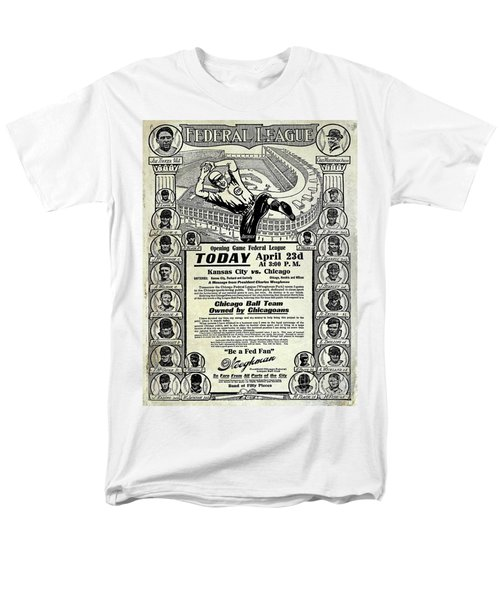 Chicago Cub Poster Men's T-Shirt  (Regular Fit) by Jon Neidert