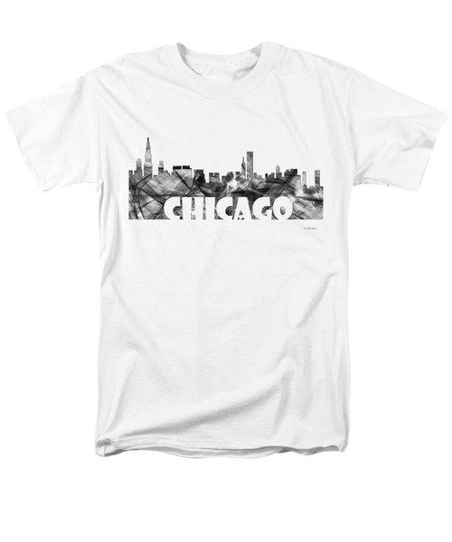 Chicago Illinios Skyline Men's T-Shirt  (Regular Fit) by Marlene Watson