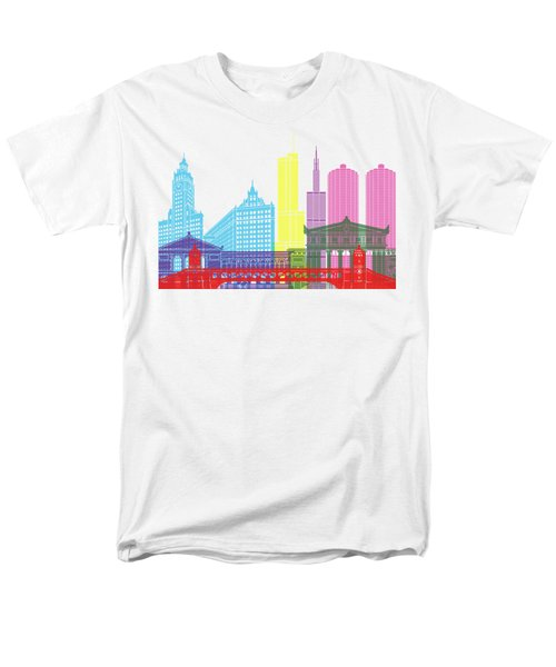 Chicago Skyline Pop Men's T-Shirt  (Regular Fit) by Pablo Romero
