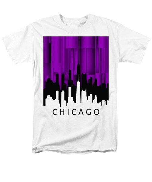 Chicago Violet Vertical  Men's T-Shirt  (Regular Fit) by Alberto RuiZ