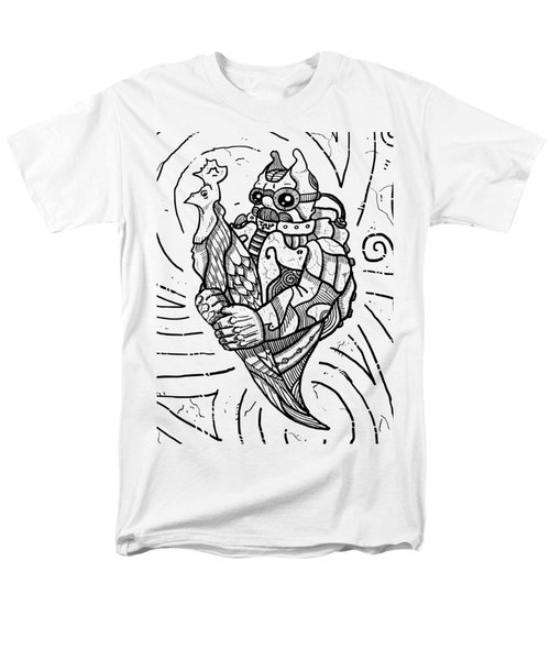 Chicken Master Men's T-Shirt  (Regular Fit) by Sotuland Art